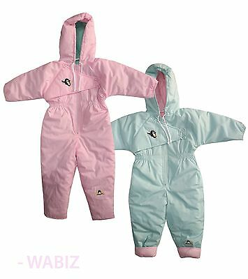 Kids Snuggler Hooded Padded Snowsuit Winter All-In-One Baby Girls Boys RRP £30