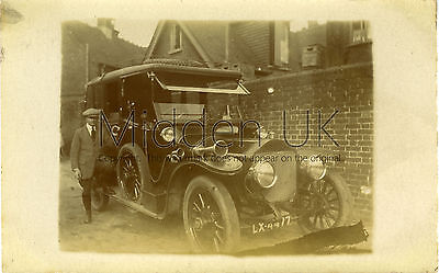 RA560 Early RP POSTCARD Wolseley Vintage Car - Probably at Deal - Dated 1920