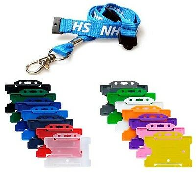 NHS Lanyard with DOUBLE BREAKAWAY. Your Choice ID Card Badge Holder - FREE P&P!