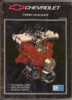 CHEVROLET POWER CATALOGUE 6th edition (1988)