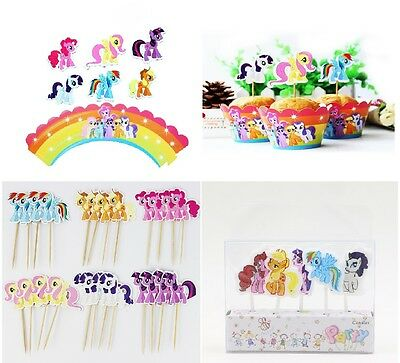 My Little Pony Cupcake Toppers  & Wrappers My Little Pony Birthday Cake Candles