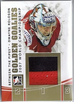 2010-11 Dwayne Roloson Between The Pipes Golden Goalies Jerseys Gold /10 #Gg19