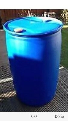 220 Litre Plastic Water Butt/barrel Container With Closed Lids And Bungs