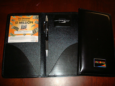 NEW Restaurant Waitstaff Waiter Waitress Double Panel Checkbook Presenter Leathe