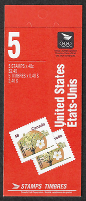 Canada Stamps -Booklet Pane of 5 -Fruit Tree: McIntosh Apple #1363b (BK142)