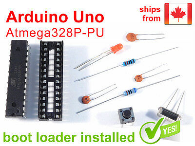 Arduino Uno Bread Board Parts Kit, Atmega328P, Boot Loader - FREE from CANADA