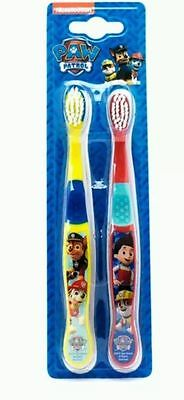 Official Licensed Kids Paw Patrol Twin Pack Toothbrushes Chase Marshall Rubble