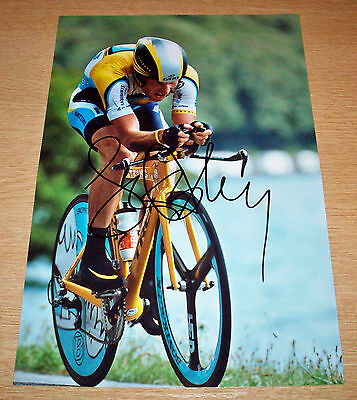 Lance Armstrong Tour De France Cycling Hand Signed Photo Authentic Genuine + Coa