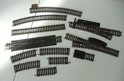 Lot of 17 Different Older HO/OO scale gauge Atlas Train Track