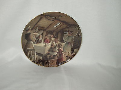 THE CRATCHIT'S CHRISTMAS Carol PUDDING Department 56 First in Series PLATE 1991