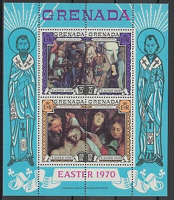 XG-AA848 GRENADA GBC - Easter, 1970 Paintings, Religion MNH Sheet