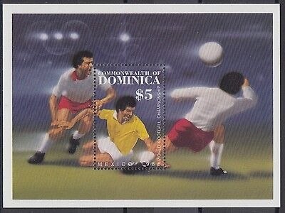 XG-AB978 DOMINICA IND - Football, 1986 Mexico World Cup MNH Sheet