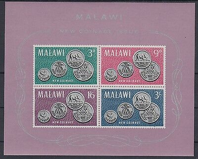 XG-AD445 MALAWI - Coins, 1965 New Coinage, Imperf. MNH Sheet
