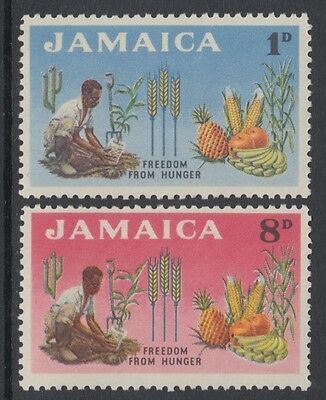 XG-I529 JAMAICA IND - Freedom From Hunger, 1963 2 Values MNH Set