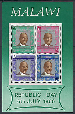 XG-D635 MALAWI - Sheet, 1966 Republic Day MNH