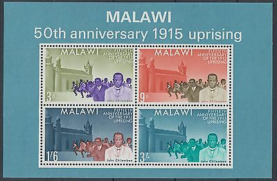 XG-D632 MALAWI - Sheet, 1965 50Th Anniv. Of 1915 Uprising MNH