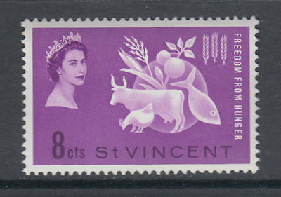 XG-AA709 ST VINCENT - Freedom From Hunger, 1963 QEII, Farm Animals, Fish MNH Set