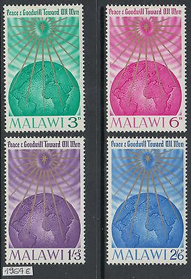 XG-AH045 MALAWI - Peace, 1964 Goodwill Towards All Men MNH Set