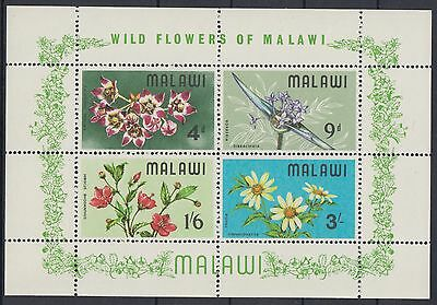 XG-AD447 MALAWI - Flowers, 1968 Flora, Nature MNH Sheet