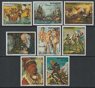 XG-F924 PARAGUAY - American Bicent., 1975 1976, Paintings, Nude MNH Set