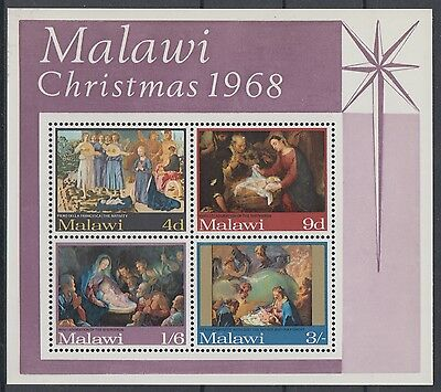 XG-AD449 MALAWI - Paintings, 1968 Christmas, Nativity MNH Sheet
