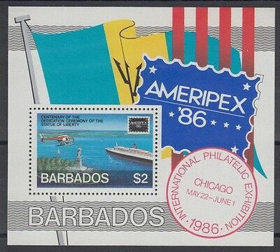 XG-AC805 BARBADOS IND - Ameripex, 1986 Statue Of Liberty Centenary MNH Sheet