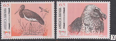 XG-AH176 SPAIN - Birds, 1993 Of Prey, Nature, 2 Values MNH Set