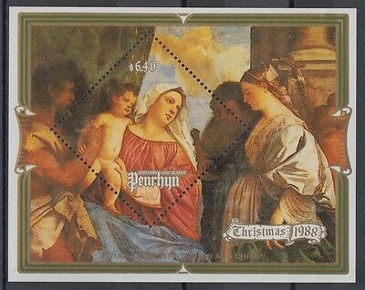 XG-AE338 PENRHYN IND - Paintings, 1988 Christmas, Titian MNH Sheet