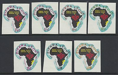 XG-AB705 SIERRA LEONE IND - Maps, 1968 Africa, Mozambique, Airmail MNH Set