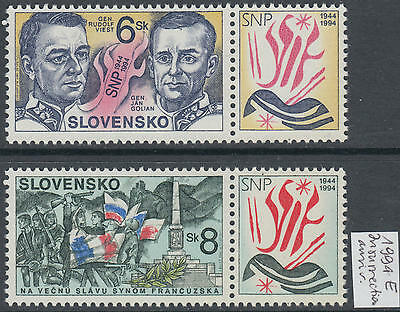 XG-AG789 SLOVAKIA - History, 1994 Insurrection Anniversary, With Labels MNH Set