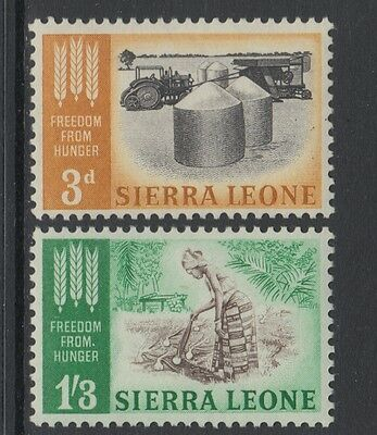 XG-AA777 SIERRA LEONE IND - Freedom From Hunger, 1963 2 Values MNH Set
