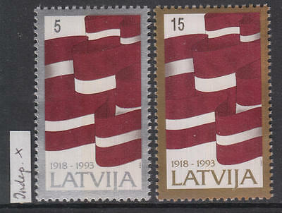 XG-AG764 LATVIA - Flags, 1993 Independence, 2 Values MNH Set