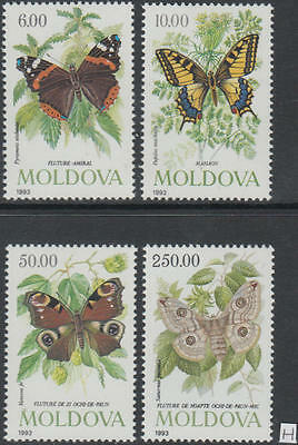 XG-AG829 MOLDOVA - Butterflies, 1993 Flowers, Nature MNH Set