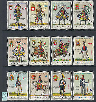 XG-J473 UNIFORMS - Angola, 1966 Militar, 12 Values MNH Set