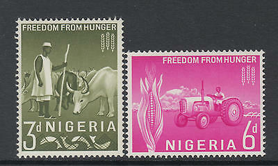 XG-AA778 NIGERIA IND - Freedom From Hunger, 1963 2 Values MNH Set