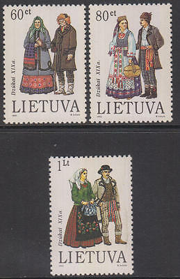 XG-AG754 LITHUANIA - Costumes, 1993 Men And Women Traditional Clothing MNH Set