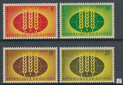 XG-AG031 GUINEA - Freedom From Hunger, 1963 4 Values MNH Set