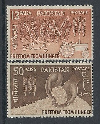 XG-AA755 PAKISTAN - Freedom From Hunger, 1963 2 Values MNH Set