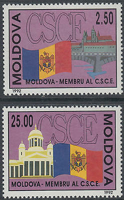XG-AG838 MOLDOVA - Flags, 1992 Participation In Conference On Safety MNH Set