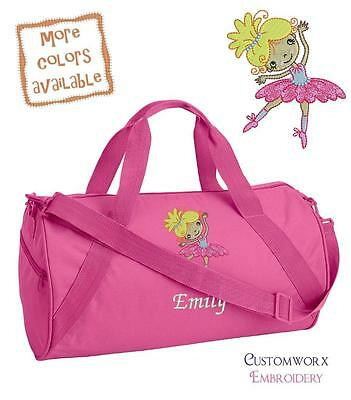 Personalized Embroidered Ballet Dancer Duffle Bag -Toddler Girl Children's dance