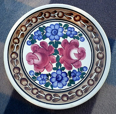 Vintage Polish Wall Plate - Hand Painted Floral Design Poland