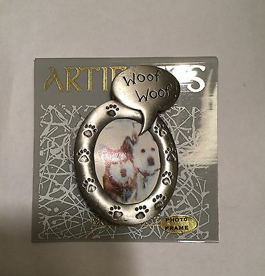 Artifacts Woof Woof Dog Brooch Picture Frame Photo
