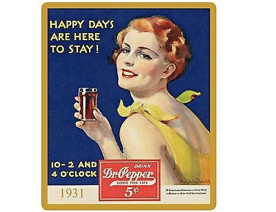 Old Fashion Dr. Pepper Soda  Ad 1931 NEW! Refrigerator / Tool Box /  Magnet