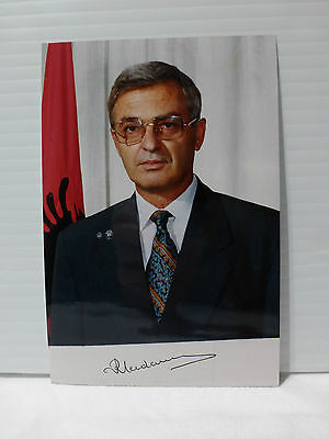 Republic of Albania President  Rexhep Mejdani AUTOGRAPH SIGNED  4 X 6 PHOTO