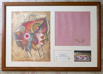"""WORLDS LARGEST PAINTING Signed ERIC WAUGH """"Hero"""" Guiness Record Book 2001"""