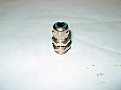 "Metal Cable Gland 3/8"" Thread For 5/16"" Cable Od *new*"