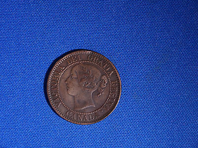 Canada 1859 9 over 8 Large Cent Canadian one Victoria Penny