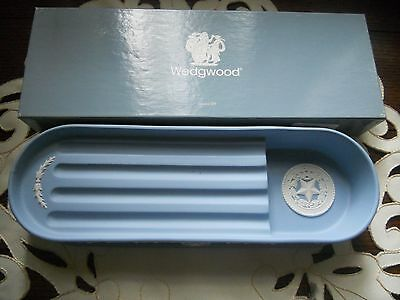 Wedgwood Pen Tray Featuring Lone Star Of Texas Nib Blue Jasperware #69/250