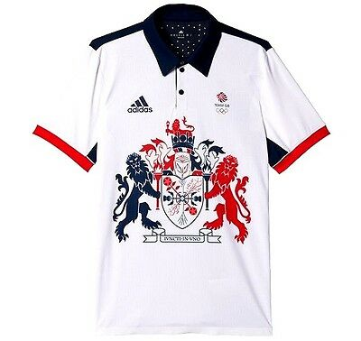 RIO 2016 TEAM GB Olympics Climachill Polo Shirt Adidas Great Britain BNWT XL
