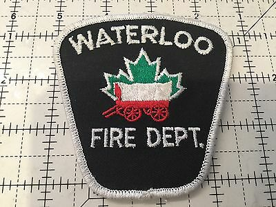 Canada Ontario Patch Waterloo Fire Department